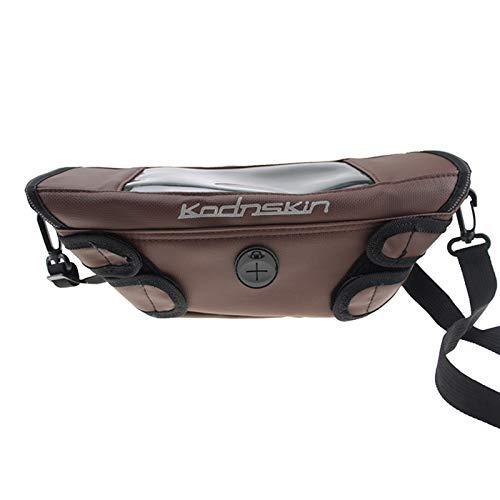 Bolsa de Viaje de la Manillar de la Motocicleta Impermeable para S1000R G310R G310GS F800R F800ST F800S F800GTF750GS F850GS R1250GS R (Color Name : Brown)