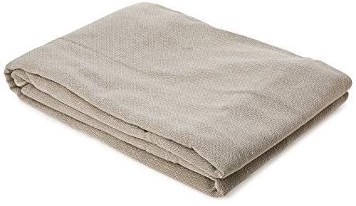 Eysa Constanza Nicht elastisch mit Krawatten Sofa überwurf 2 sitzer, Baumwolle, 01-leinen, 43 x 5 x 37 cm