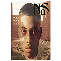 Nas It Was Written Hip Hop Rap Rapper Album Cover Painting Canvas Wall Art Poster Picture Decor Painting for Living Room Decor Print on canvas 50x70cm unframed