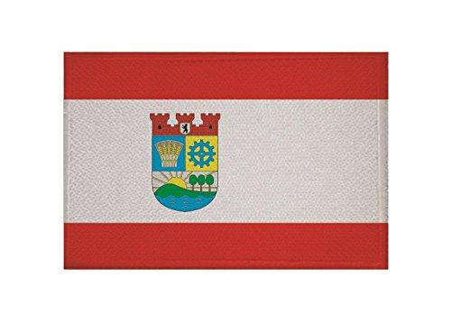 U24 Aufnäher Berlin Lichtenberg Fahne Flagge Aufbügler Patch 9 x 6 cm