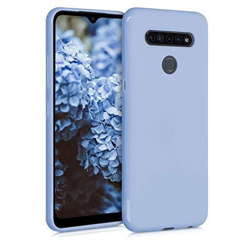 kwmobile Custodia Compatibile con LG K41S - Cover in Silicone TPU - Back Case per Smartphone - Protezione Gommata Blu Chiaro Matt