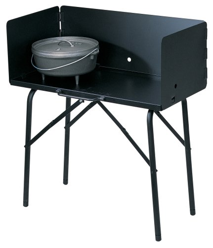"Lodge A5-7 Camp Cooking Table, 26"" x 16"" x 32"", Black"