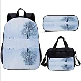 Bookbags School Bags, Tree, with Lunch Kits, 17 inch