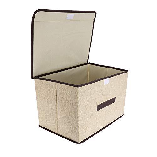 Changor Ropa Robusta Caja de Almacenamiento, Bolsa de Almacenamiento de Ropa Material de Tela de Tela PCS Cajas de Almacenamiento con Tela para Ropa de Libros.