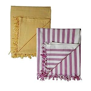Riyashree Organic Cotton Silky Soft Bhagalpuri Dull chadar lite Blanket & Duvet ( 52*94 in ) Combo Pack of 2 CoDull 09…