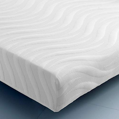 Happy Beds Ocean Gel Pocket 2000 LayGel Memory Foam Pocket Sprung Cool Mattress with Removable Cover - 3ft Single (90 x 190 cm)