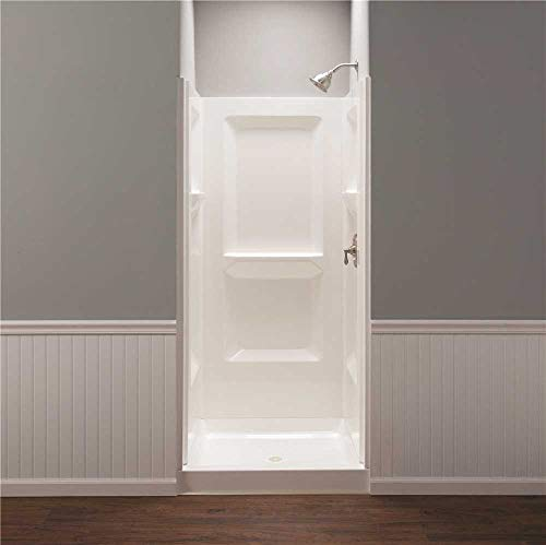 Mustee 736WHT Durawall Shower Wall Surround Side and Back Panels, White