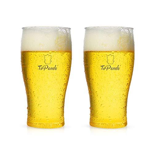 XGzhsa Jarra de Cerveza, Jarra de plástico, 2 Tazas de Cerveza duraderas...