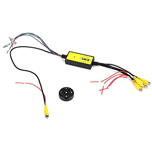 Qiilu Video Switcher, Intelligent Car Video Switcher Converter 4 Input 1...