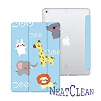 NeatClean new ipad 第7世代 10.2 ケース pencil収納 軽量 薄型 ipad 9.7 ケース ペンシル収納 耐衝撃 手帳型 かわいい ウサギ ipad pro11 ケース 2018 iPad 9.7インチ ケース 第六世代 iPad 第五世代 9.7 ケース 2017 ipad air3 ケース iPad mini5 ケース mini4ケース mini3ケース mini2ケース miniケース ipad Air3ケース Air2ケース Airケース スタント機能 タブレットケース ipad pro11 ケース ペンシル ipad pro10.5 ケース おしゃれ ipad 10.2 ケース ペンシル収納 アイパッドケース 二つ折り 三つ折り 背面透明 タイプ 魅力的 オシャレ おもしろ 動物園 ライオン ゾウ 兎柄 子供(iPad mini1/2/3,b柄)