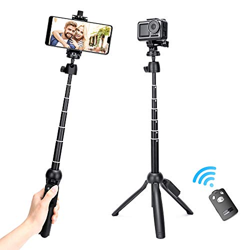 Selfie Stick,Upgraded 48 Inch Extendable Selfie Stick Tripod and Cell Phone Tripod Stand with Rechargeable Wireless Remote,Compatible with iPhone/Android Phone,Gopro,Camera