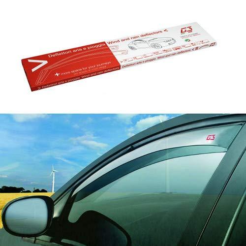 Desconocido Juego de deflectores antiviento para Coche compatibles con Peugeot 3008 ESCL. Techo de Cristal/Without Glass Roof 5P 08-15 Cortavientos antiviento Agua Turbo Fume G3