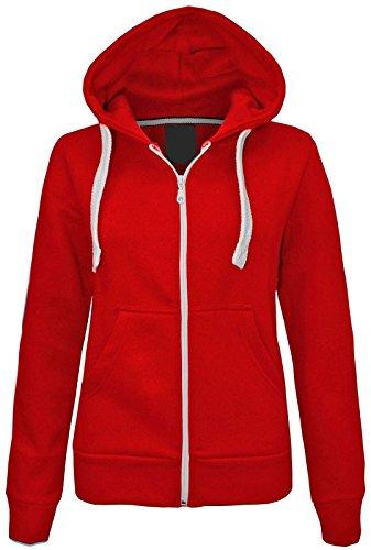 janisramone Kids Girls & Boys Unisex New Plain Fleece Zip Up Hoodie Jacket...