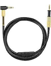 K450 kabel, Upgrade kabel zamienny kompatybilny z AKG K450, K451, K452, K480, Q460 słuchawkami, kabel audio z regulacją głośności i mikrofonem, 1,2 m