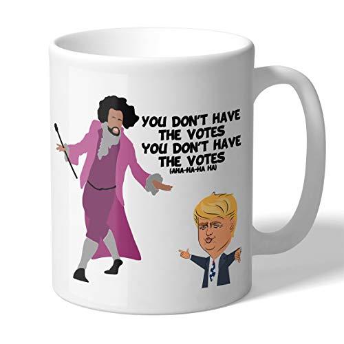MugBros Hamilton Inspired You Don't Have the Votes Funny Trump Mug Novelty 11 Ounce Coffee Mug Active