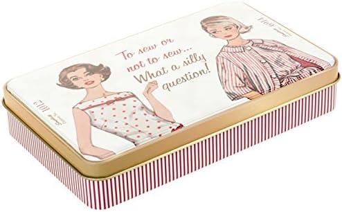 """Simplicity Vintage Fashion 60's Tin Box, 9"""" L x 6.75"""" W x 2.75"""" H"""