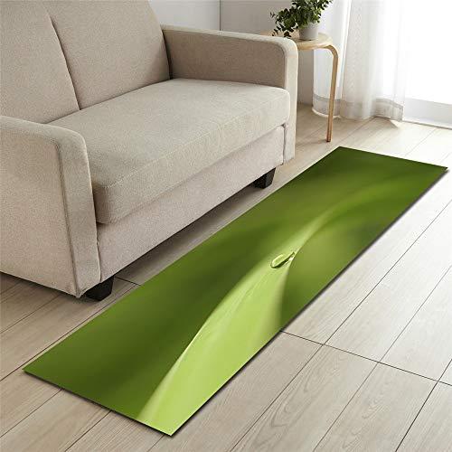 Mengjie Modern Küchenläufer Grüne 7mm Dicke Küchenmatten Schlafzimmer Teppich Anti-Müdigkeit Fußmatten,40x120CM