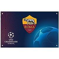 ASローマ フットボールクラブ AS Roma オフィシャル商品 チャンピオンズリーグフラッグ 旗 サッカー (ワンサイズ) (マルチカラー)