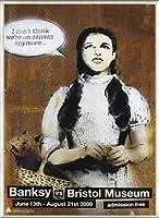 ポスター バンクシー basnksy bristol Dorothy 2009 額装品 アルミ製ベーシックフレーム(ライトブロンズ)