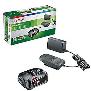 Bosch Home and Garden Starter-Set 18V (18-Volt-System, Akku 2.5Ah, Ladegerät, in Kartonschachtel)