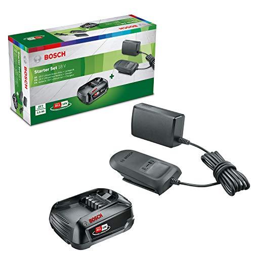 Kit de démarrage Bosch - Pack batterie et chargeur compact pour outils sans fil 18 V (1X batterie 2,5 Ah, 1 X chargeur compact)