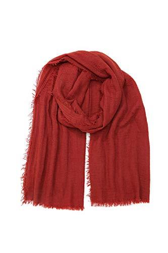 irisaa leichter Damen Schal Halstuch Stola für Frühling Herbst Ganzjährig, Schals Farbe 2019:Rost Rot