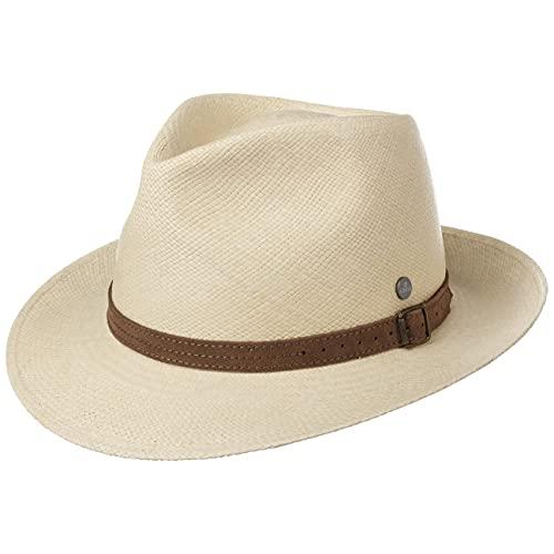Lierys Sombrero de Paja Panamá Rustic Mujer/Hombre - Made in Ecuador Sol Hombre con Banda Piel, Piel Primavera/Verano - M (57-58 cm) Natural