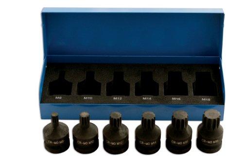 Laser 4939 Lot de 6 Embouts cannelés