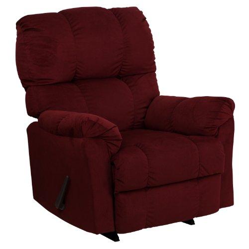 Big Sale Flash Furniture AM-9320-4170-GG Contemporary Top Hat Berry Microfiber Rocker Recliner