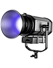 GVM RGB Video Lighting with Bowens Mount - LED Video Light Kit 8 Modes of Scenes Lighting Video Spotlight Dimmable Bi-Color Daylight Balanced Continuous Output Lighting for YouTube/Studio/Interview