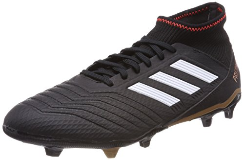 adidas Herren Predator 18.3 FG Fußballschuhe, Schwarz (Core Black/FTWR White/Solar Red), 41 1/3 EU