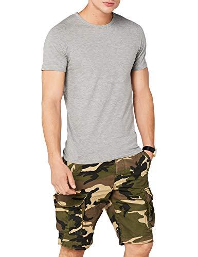 Jack & Jones Jones - Camiseta de manga corta con cuello redondo para hombre, Grau (LIGHT GREY MELANGE JJ LIGHT GREY MELANGE), Large