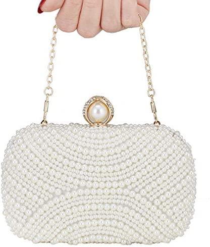 New Pearl Bag Dinner Bag Handbag European and American Women's Bag Banquet Bag Evening Pearl Bag Handbag
