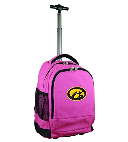 Denco NCAA Iowa Hawkeyes Wheeled Backpack, 19-inches, Pink