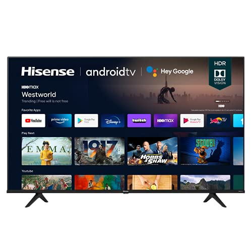 Hisense 55A6G 55-Inch 4K Ultra HD Android Smart TV with Alexa...