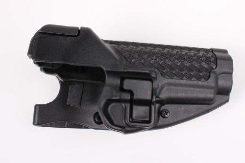 BLACKHAWK SERPA Level 3 Auto Lock Duty Basketweave Finish Holster, Size 00, Right Hand, (Glock 17/19/22/23/31/32 )