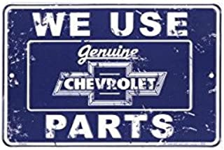 PARKING SIGNS (SMALL) Chevrolet Parts Tin Sign