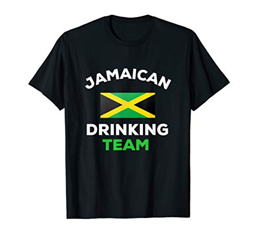 Jamaika-trinkende Team-Jamaikaner-getrunkene Bier-Flagge T-Shirt