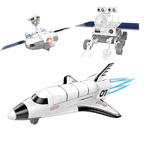 About1988 Spielzeugflugzeug, Konstruktionsspielzeug Raumschiff batteriebetriebener Deckenflieger Lichtern Geräuschen Flugzeug (Weiß)