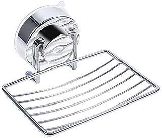 Fdit Starkt sug avtagbar tvålhållare korgbricka, badrum kök tvål organiseringsställ
