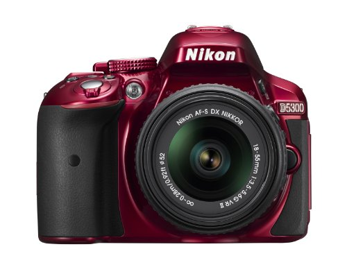 Nikon D5300 24.2 MP CMOS Digital SLR Camera with 18-55mm f/3.5-5.6G ED VR II Auto Focus-S DX NIKKOR Zoom Lens (Red)