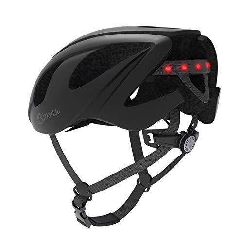 FPTB Intelligente del Casco Bici con Bluetooth Speaker, Telecomando Wireless fanali Posteriori/Team Walkie-Talkie/Musica/SOS Alert/Call Anti-Shock apparecchiatura di Riciclaggio Nero