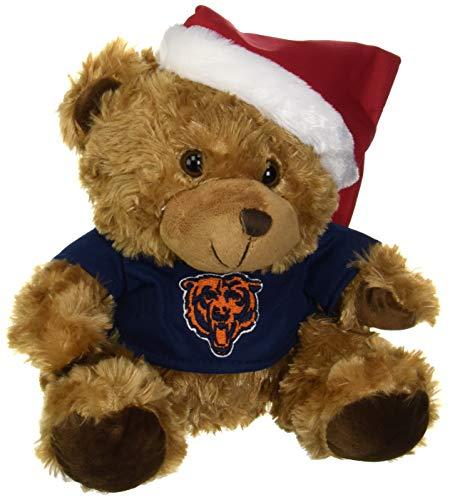 FOCO NFL Unisex Cmbsbear mit Weihnachtsmütze, Unisex, Plüsch, Teamfarbe, Einheitsgröße