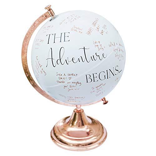 Globus zum Beschriften   Hochzeit Gästebuch Alternative