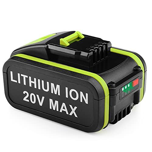 XNJTG 20V 5.0Ah Batería de repuesto de iones de litio para Worx 20V WA3578 WA3520 WG163 WG170 Batería de herramienta Worx