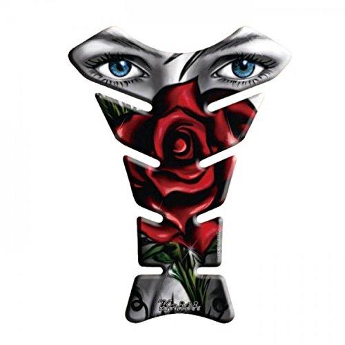 Keiti Tankpad Motorrad Tankschutz Tankprotektor Tankaufkleber Roseeye Rose Blume