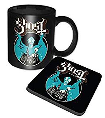 Officiële Ghost Opus Eponymous Band Logo Boxed Mok en Coaster Set