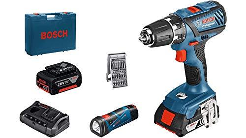 Preisvergleich Produktbild Bosch GSR 18-2-Li Plus,  1x1.5Ah + 1x3.0Ah + GLI 12V-80 (1x2, 0 Ah)