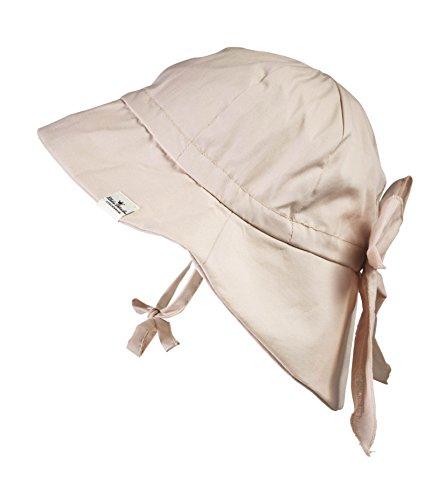 Elodie Details Baby Sonnenhut, Mütze mit Nackenschutz aus Baumwolle, LSF 30 - Powder Pink, 6-12 Monate, Rosa