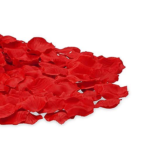Lot de 1 000 pétales de rose artificiels de qualité supérieure pour mariage, fête, cadeaux, rouge